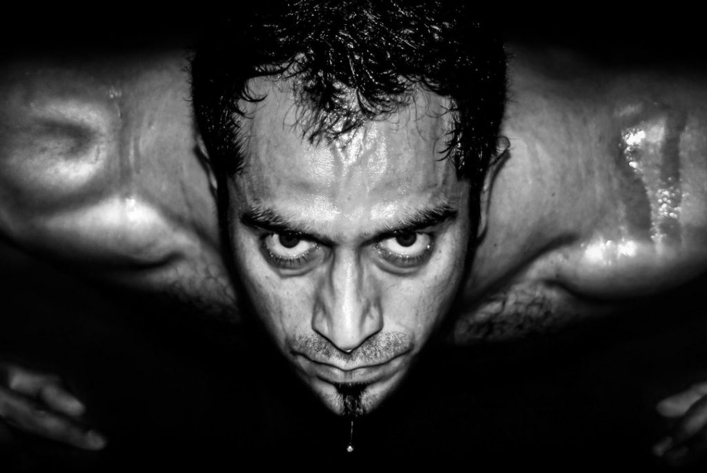 """""""Powerful Photography"""" Black & White Portrait of a Personal Trainer. https://powerfulPhotography.co.uk"""