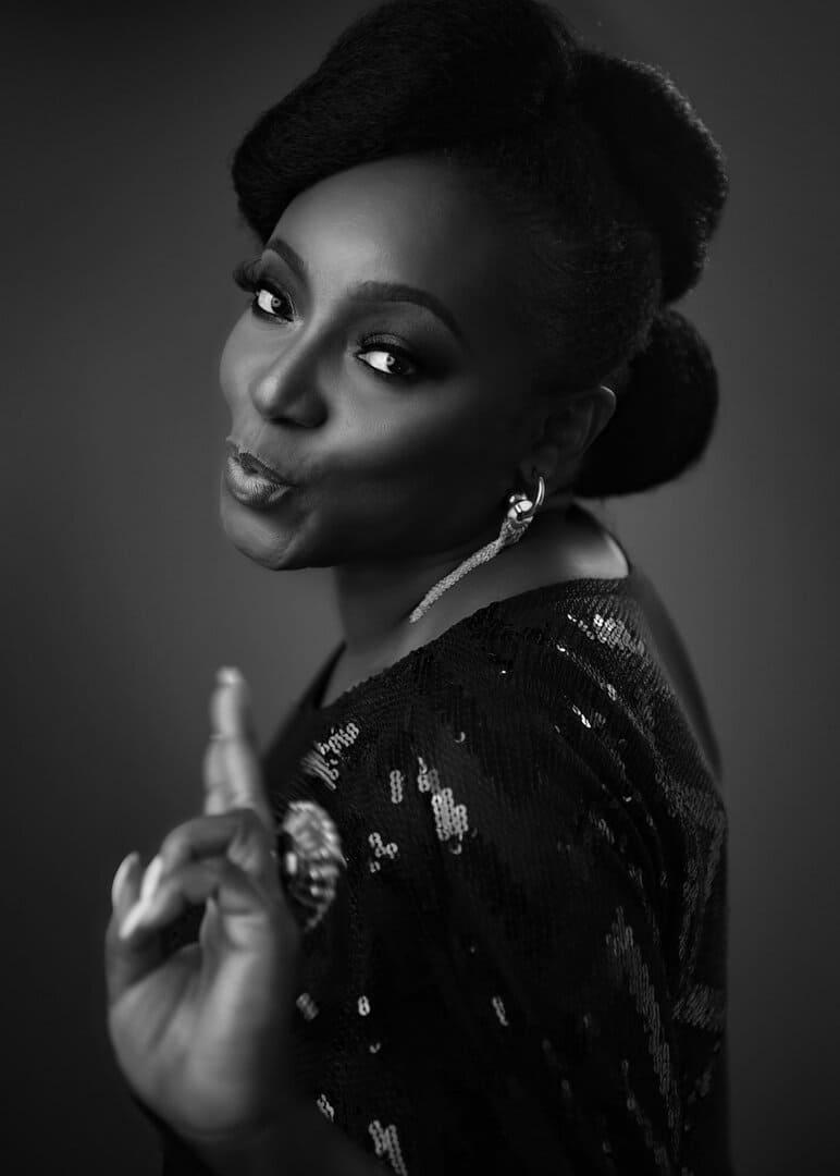 """Powerful Photography"" Black & White on-location 50th birthday Portrait . https://powerfulPhotography.co.uk"